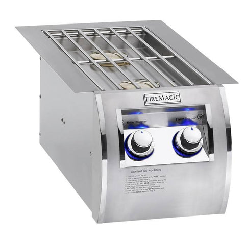 Fire Magic Echelon Diamond Series Built-In Double Side Burner - Propane - Yardandpool.com