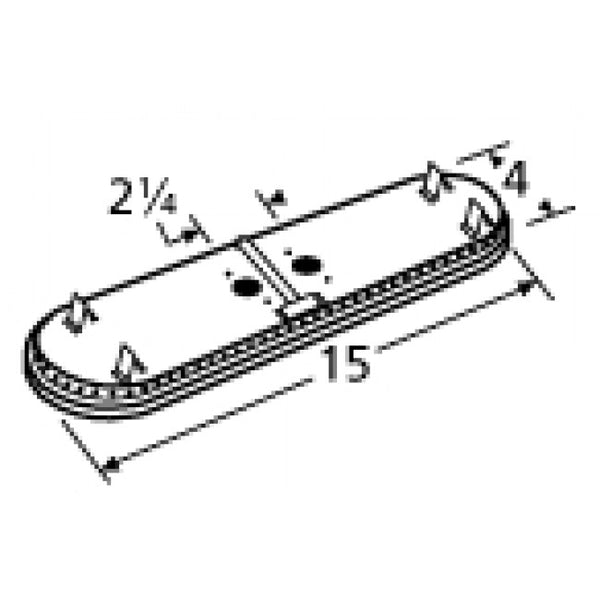 Music City Metals Stainless Steel Grill Burner Head 11602