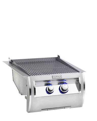 Fire Magic Echelon Built-In Double Searing Station w/ Stainless Steel Grid - Natural Gas - Yardandpool.com