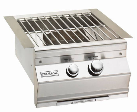 Fire Magic Built-In Power Burner w/ Stainless Steel Grid - Natural Gas - Yardandpool.com