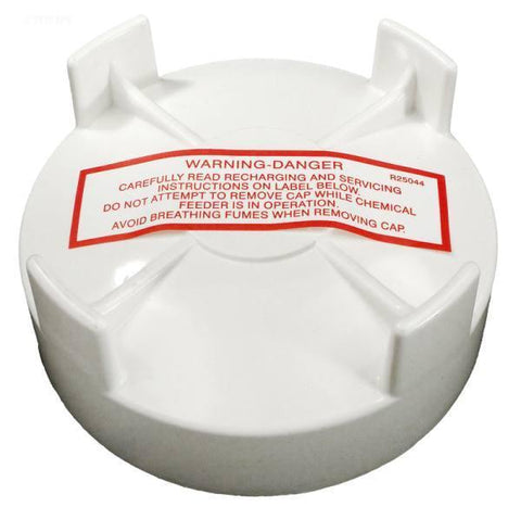 "3"" threaded cap, white"