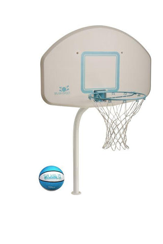 Deck Shoot Swimming Pool Basketball Hoop - Stainless Steel Rim
