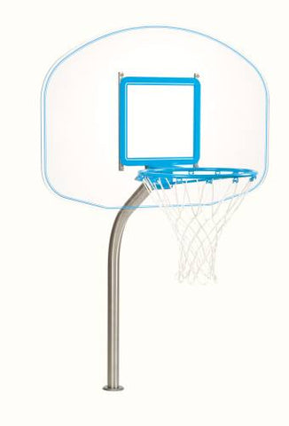 Clear Hoop Regulation Swimming Pool Basketball Hoop