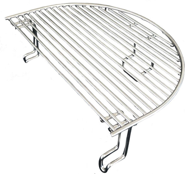 Primo Grills Extended Cooking Rack for Oval JR 200 and Kamado Grill - Stainless Steel
