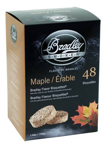 Bradley Smoker Bisquettes 48 Pack - Maple