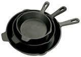 Bayou Classic 3 Piece Cast Iron Skillet Set