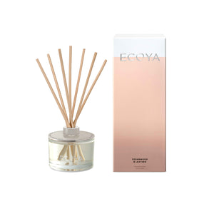 Ecoya Reed Diffuser Cedarwood and Leather