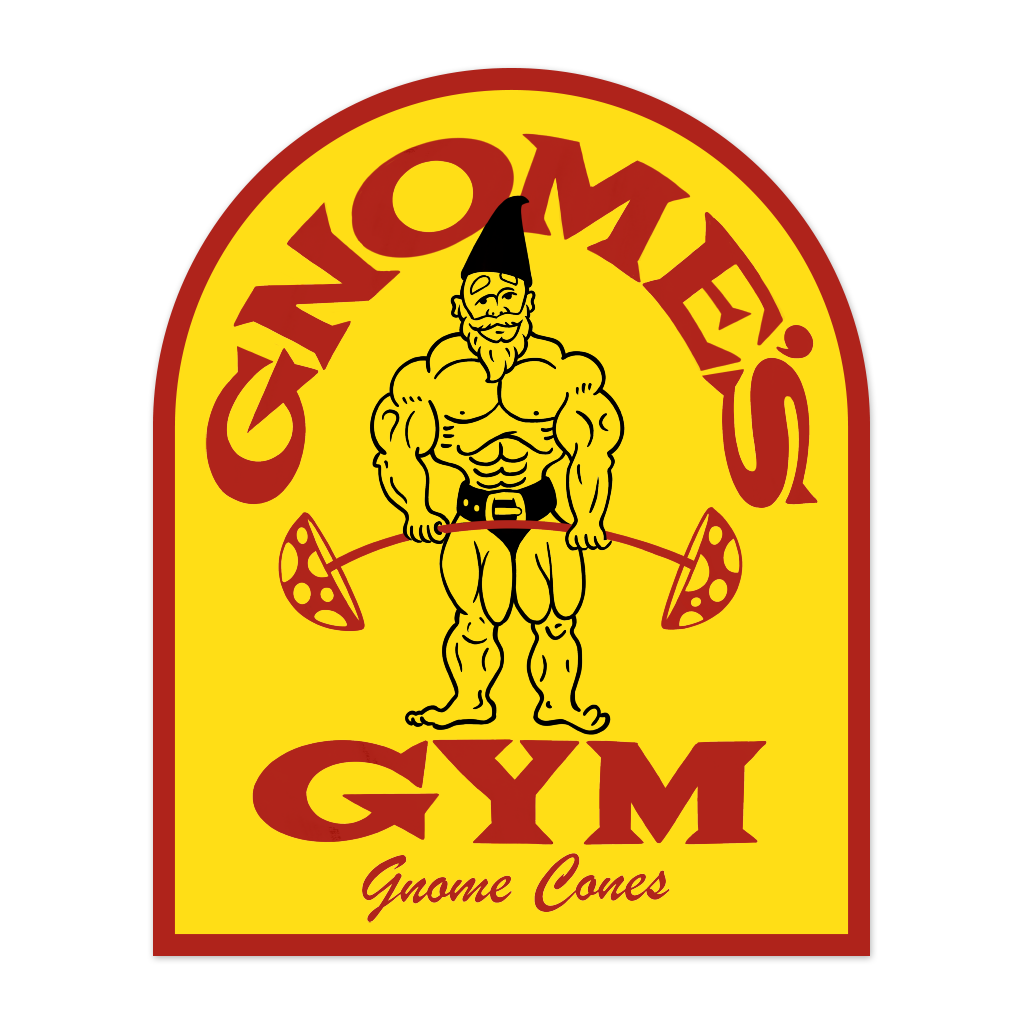 Gnome's Gym Sticker
