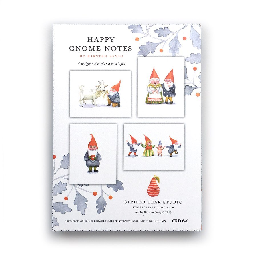 Happy Gnome Note Cards