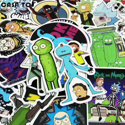 Rick and Morty Sticker Pack: 50Pcs Water Proof