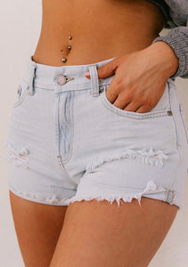 JBD Light Wash Distressed Short - one Medium available