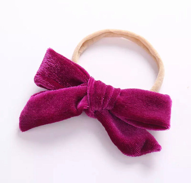 Velour Bow on Nylon- More Colors