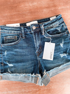 Vervet Dark Wash Short - SM available