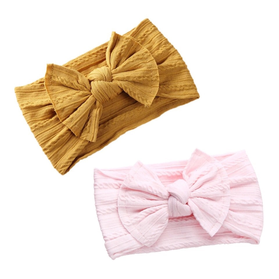 Textured Bow Headband- More Colors