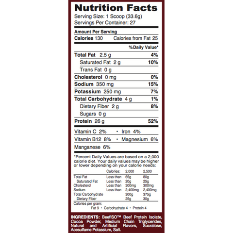 Image of Protein Powder - 100% Beef Isolate Protein