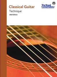 RCM CLASSICAL GUITAR TECHNIQUE 2018 EDITION