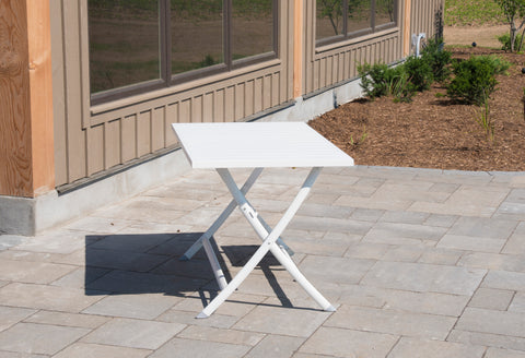Vivere BRAT-WH Aluminum Folding Table