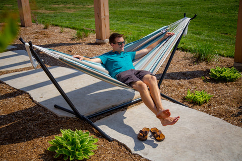Vivere C9SUNG Combo - Sunbrella® Hammock with Stand (9ft)