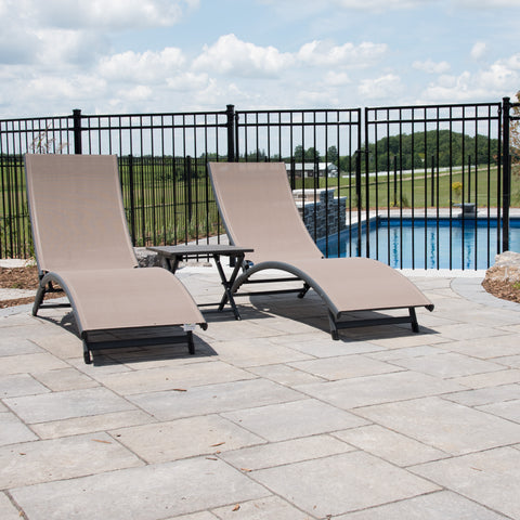 Vivere CORL3-MA Coral Springs 3 Piece Lounger Set