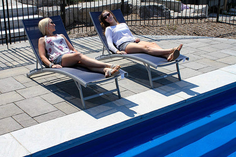 Vivere CWTL2-NS Clearwater 6 position Aluminum Lounger