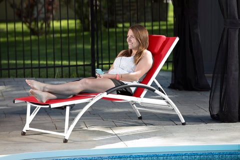 Vivere DKDSUN-CR Dockside Sun Lounger