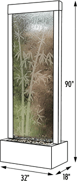GF83B 8 foot Gardenfall Dark Copper Bamboo Glass Diagram