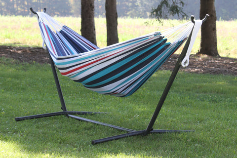 Vivere UHSDO9-12 Double Cotton Hammock with Stand (9ft)