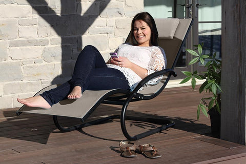 Vivere WAVELNG1-GB Wave Lounger - Aluminum