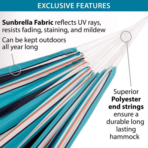 Vivere Combo - Sunbrella® Hammock with Stand (9ft)