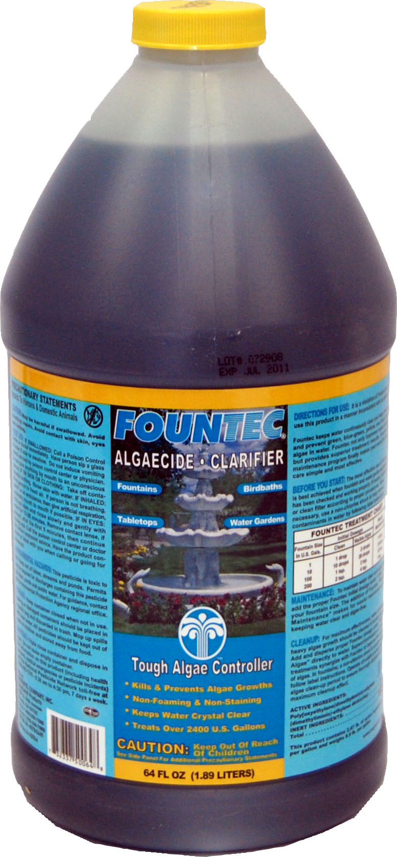 Fountec Algaecide and Clarifier Water Treatment