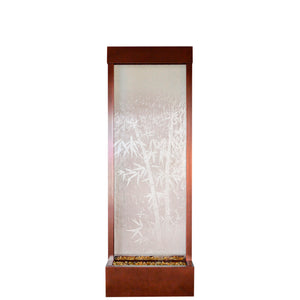 Gardenfall Fountain - Dark Copper with Bamboo Etched Glass