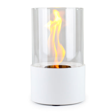 Piccolo Accenda Tabletop Bio-Ethanol Fireplace, White