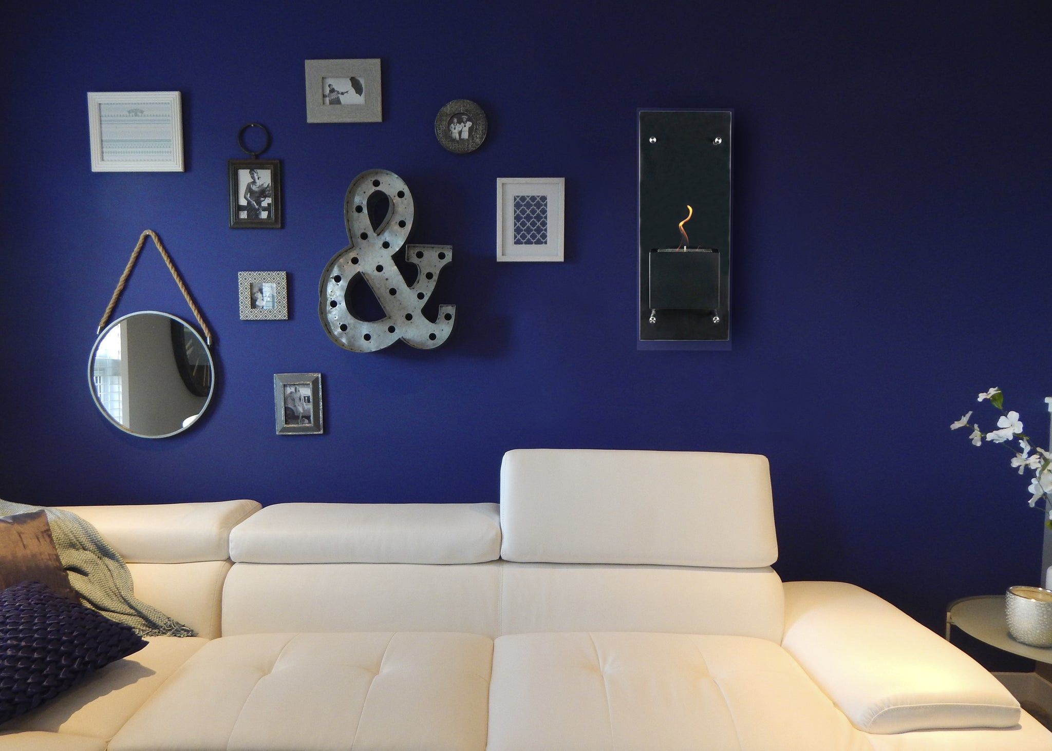 Cannello Wall Mounted Ethanol Fireplace Bluworld Homelements