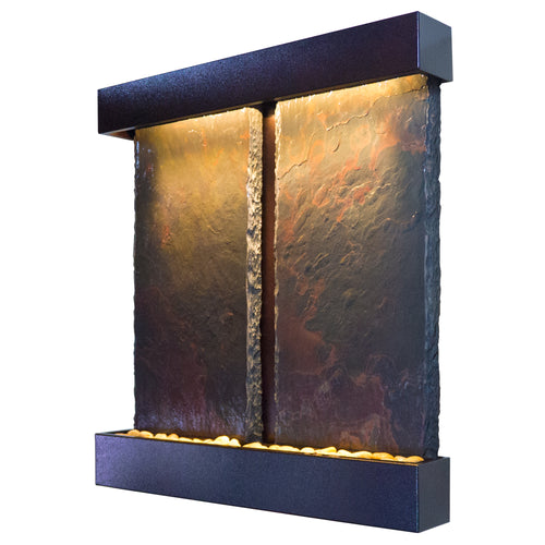 Duet Falls Lightweight Slate Wall Fountain