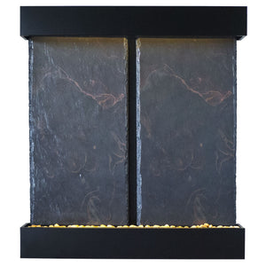 Nojoqui Falls Double Lightweight Slate Wall Fountain