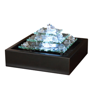Glacier Ice Bubbling Tabletop Fountain