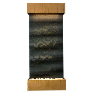 Nojoqui Falls Classic Quarry Black Granite Wall Fountain