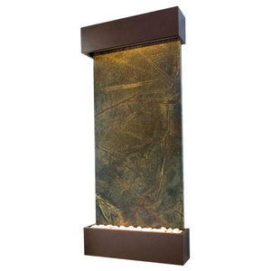 Nojoqui Falls Classic Quarry Rainforest Green Marble Wall Fountain