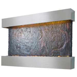 Horizon Falls Lightweight Slate Wall Fountain - Medium