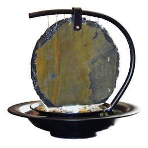 Zen Moonshadow Slate Tabletop Fountain