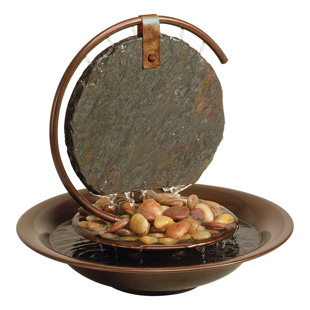 Mini Moonshadow Slate Tabletop Fountain