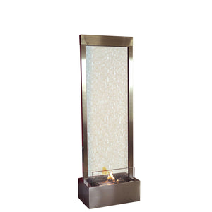 Gardenfall Fire Fountain - Stainless with Clear Glass