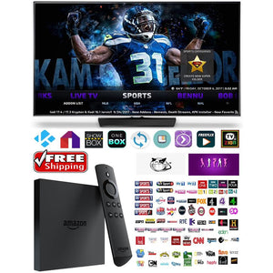 Amazon Fire TV Box Unlocked & Fully Loaded With Kodi 17.6