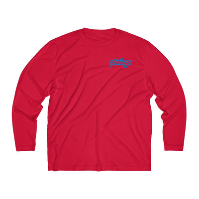 Printage Men's Long Sleeve Moisture Absorbing Tee
