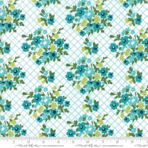 """Mama's Cottage"" Blue Raspberry Yardage 24051 13"