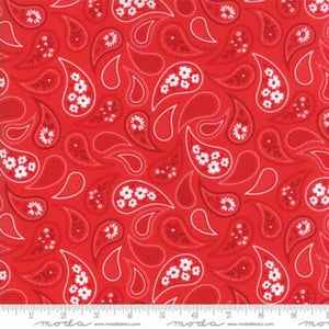 """Mama's Cottage"" Apple Red Paisley Yardage 24052 25"