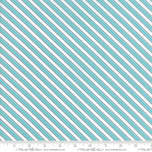 """Mama's Cottage"" Blue Raspberry Barber Pole Yardage 24056 16"