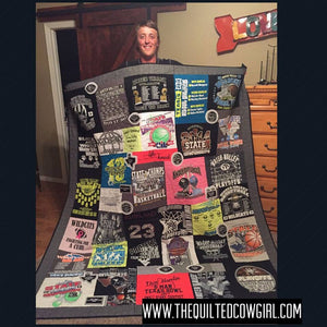 Custom-Made ONE OF A KIND T-Shirt Quilt
