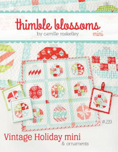 Mini Vintage Holiday Thimble Blossoms pattern