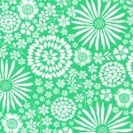 "Michael Miller ""Flora Pop"" Green Yardage"